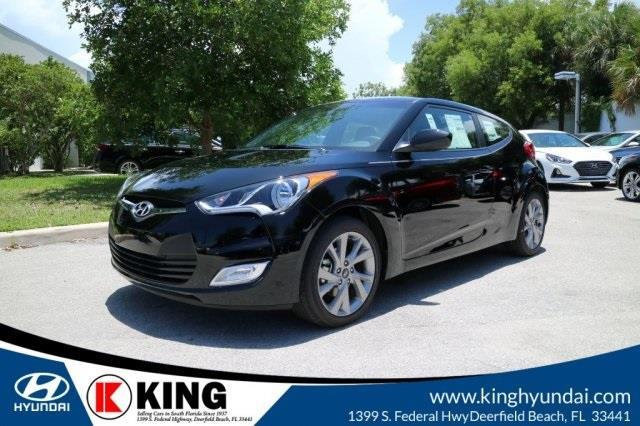 2017 Hyundai Veloster Base 3dr Coupe 6m W Black Seats For