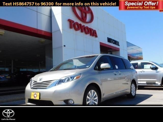 2017 toyota sienna xle 8 passenger xle 8 passenger 4dr mini van for sale in san angelo texas. Black Bedroom Furniture Sets. Home Design Ideas