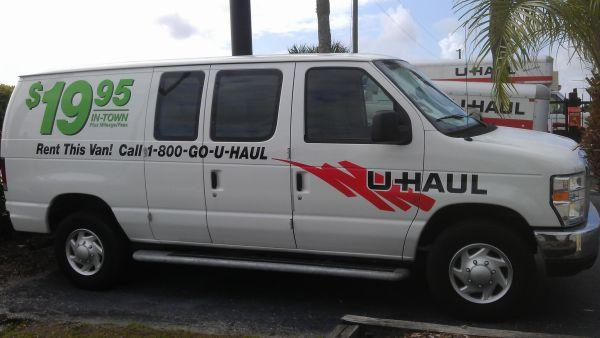 u haul vans rental rates