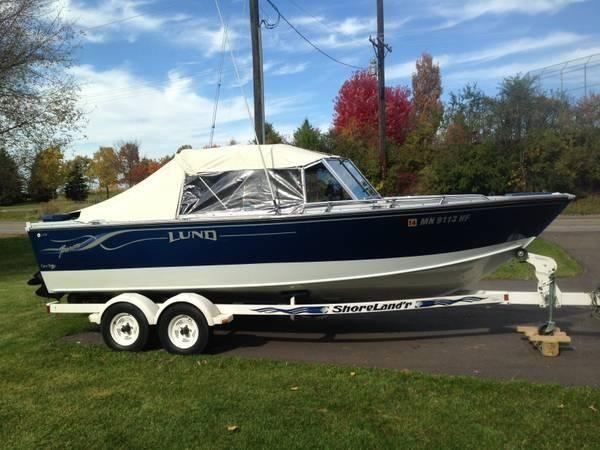21 39 1987 lund baron 21 foot 1987 lund boat in saint paul for Used fishing boats for sale mn