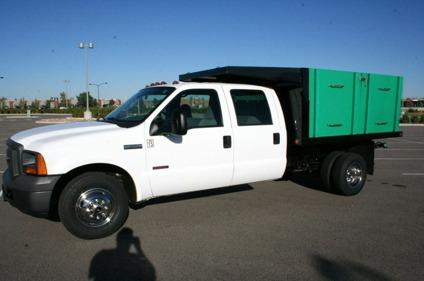 2005 Ford F350 Flatbed Dump Truck Diesel Low Mileage