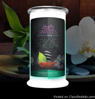 21 oz Day At The Spa Scented Jewelry Candle