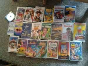 21 vhs and 1 dvd - $20 (Conifer)