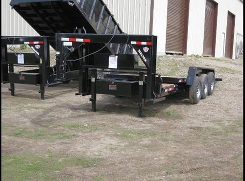 21K Axle GVW 22 Foot Deck Power Tilt Equipment Fork Lift Skid Steer...