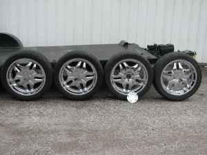 "22"" BIGGIE CHROME DEEP DISH WHEELS TIRES 6LUG SUV/TRUCK ..."