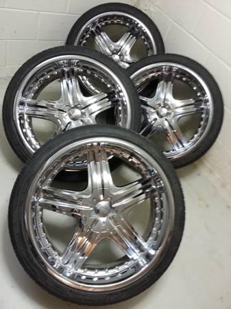 22 Quot Chrome Rims W Nexen Tires 5 Lug Universal Obo