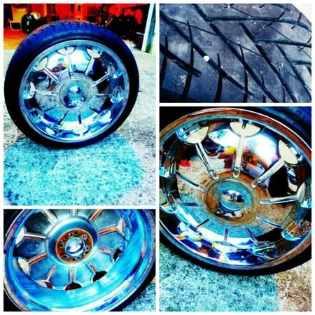 22 inch rims and tires - $1000