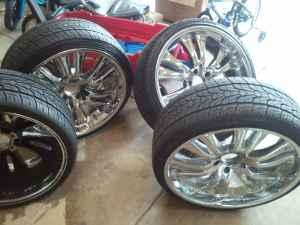 22 inch rims and tires sold indian trail for sale in charlotte north carolina classified. Black Bedroom Furniture Sets. Home Design Ideas