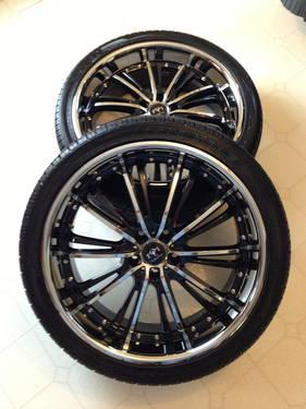 22 Inch Wheels and Tire Package Like New