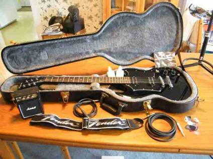 $225 GUITAR SETUP, PERFECT SET FOR BEGINNER GUITAR PLAYER Includes black Epiphone-SG