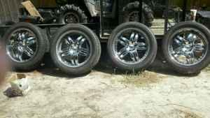 22in. Tires and Chrome Rims - $775 Effingham County