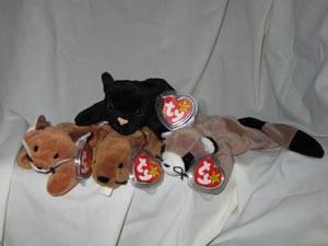 be1215f862b Ty Beanie Babies Set of 4 Sly Velvet Bucky Ringo for Sale in Yardley ...