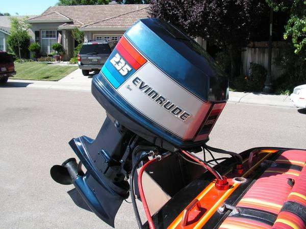 235h.p. Evinrude Motor with low water pickup - for Sale in ...