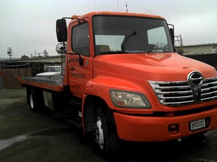 Obo 2006 Hino 258 Lp Toyota Tow Truck Flatbed Rollback Ud