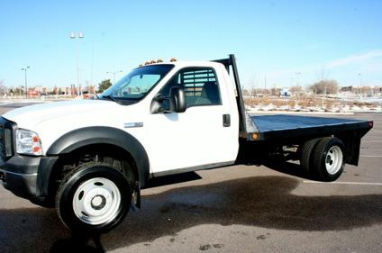 $24,990 2006 Ford F550 4x4 Hauler Flatbed Truck with