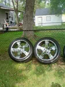 24 inch rims and tires - $1200