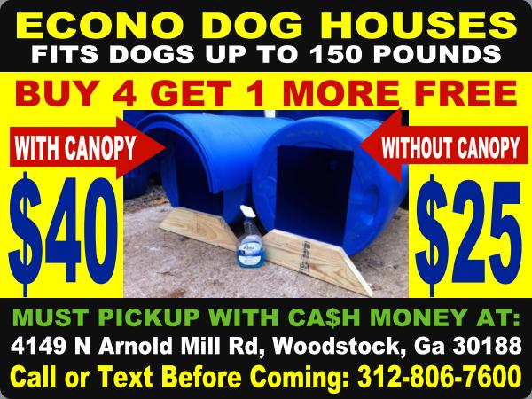 $25 atlanta georgia dogloo igloo doghouse dog-house dog house kennel cage crate kennels cages crates box boxes houses