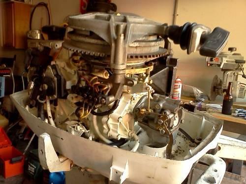 25 hp Johnson short shaft tiller, new paint serviced and water ready