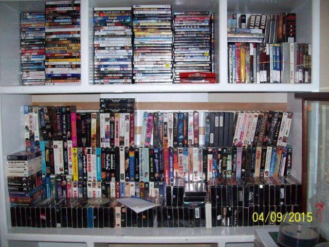 250 DVD's and 250 VHS movies