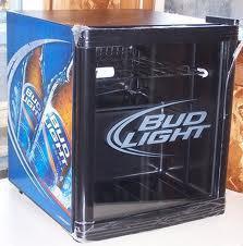 Obo Bud Light Mini Fridge And Bud Light Neon Sign For Sale