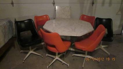 Retro Table With 6 Swivel Chairs For Sale In Ransom
