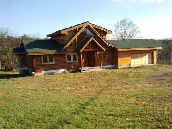 3br 2300ft Beautiful Lindal Log Home Hedgesville