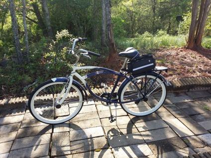 "26"" Schwinn Point Beach Men's Cruiser Bike, Navy/Cream for ..."