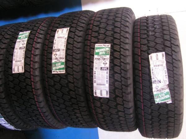 26570r17 p265 70 17 17 set of 4 new tires goodyear at s all terrain for sale in fairview. Black Bedroom Furniture Sets. Home Design Ideas