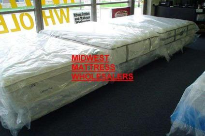 Seville Queen Size Pillow Top Mattress Set Warrantied for