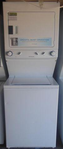 27 wide stack washer and dryer in white