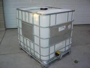 280 Gallon Plastic Tote W/ Galvanized Steel Cage ...