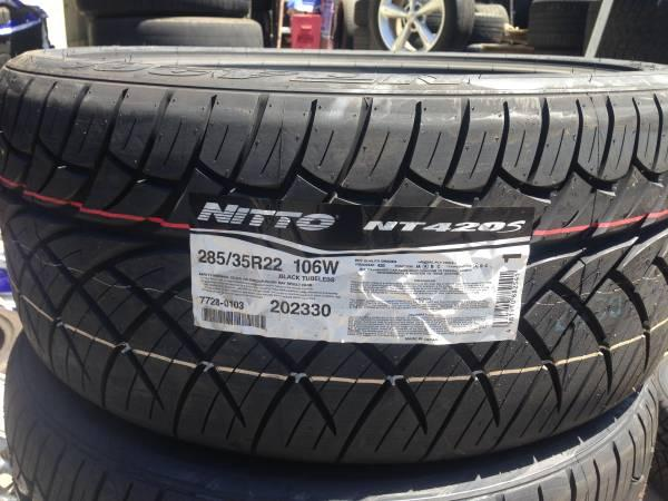 285 35 22 NITTO 420 S NEW tires - for Sale in Pomona, California Classified | AmericanListed.com