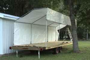28ft Flat Bed Trailer Stage Tandem Axle Summerfield