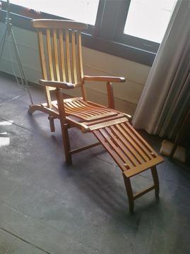 Fabulous Teak Wood Adjustable Folding Steamer Deck Lounge Chair For Theyellowbook Wood Chair Design Ideas Theyellowbookinfo