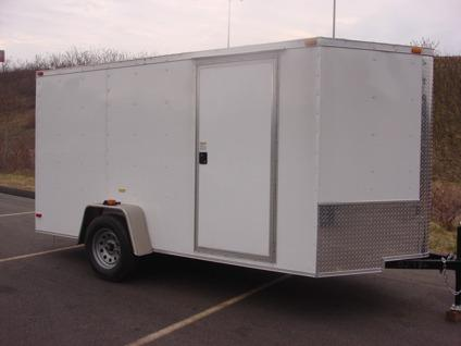 $3,175 6x12 enclosed cargo trailers for motorcycle
