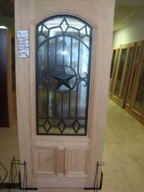 3 4 Oval Unfinished Texas Star Mahogany Wood Door On Sale