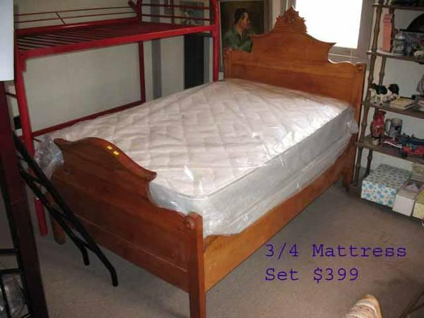 3 4 size mattress for antique beds payments ok for sale for New beds for sale