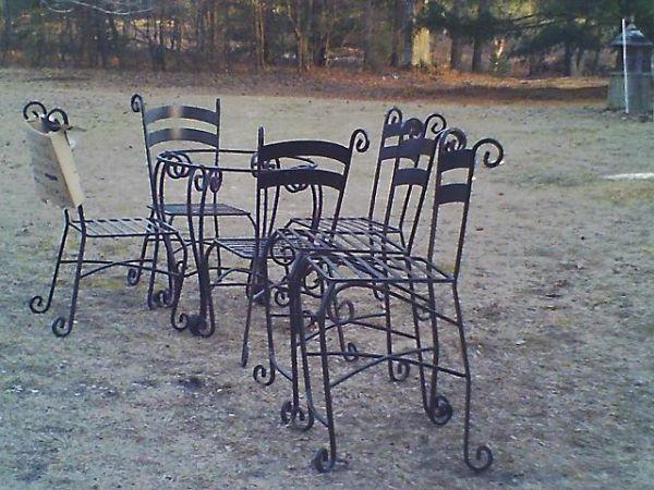 3 4 Quot Solid Wrought Iron Dinette Set N White Cloud For