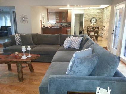 $3,500 OBO Crate And Barrel Lounge Sectional  Super