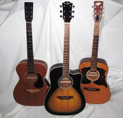 3 acoustic guitars parts repair for sale in chiefland florida classified. Black Bedroom Furniture Sets. Home Design Ideas