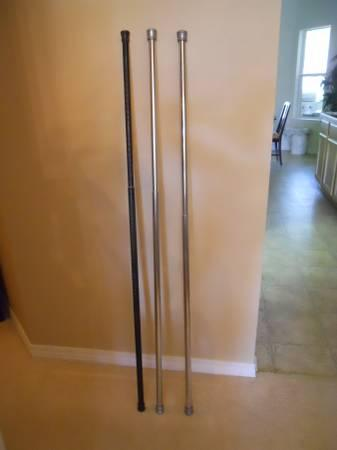 3 Adjustable Spring Shower Curtain Rods - $5
