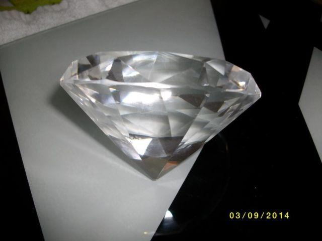 3 Diamond Shaped Glass Paper Weight Or Art Deco Accent For Sale In Houston Texas Classified Americanlisted Com