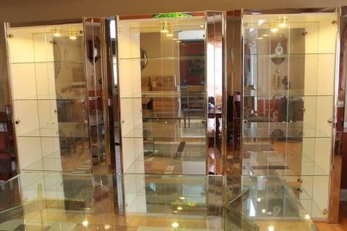 3 Glass Italian Curio Cabinets With Lights And Glass