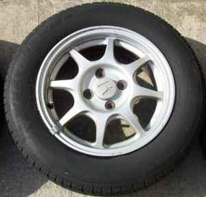 Honda Civic Coupe For Sale >> (3) Honda Civic HX Wheels with Tires - (Utica, NY) for Sale in Utica, New York Classified ...