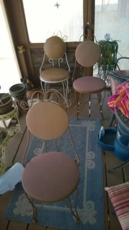 3 Ice Cream Parlor Chairs