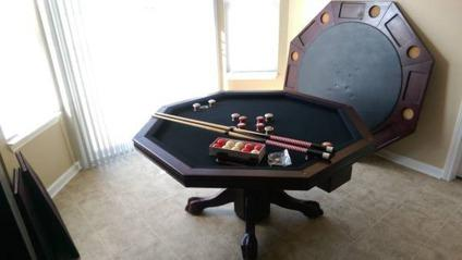 3 In 1 Game Table : Bumper Pool, Poker, And Dining Room