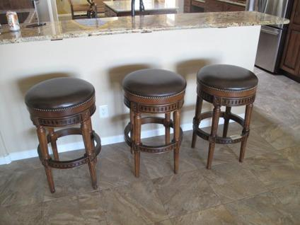 3 Leather Amp Wood Barstools For Sale In Goodyear Arizona