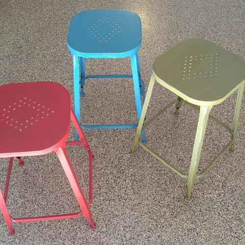 3 metal stools, like new, purchased at Pier 1.