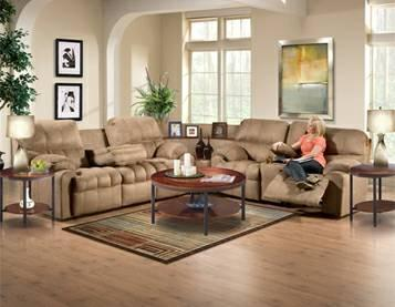 3 piece sectional with recliners - $900