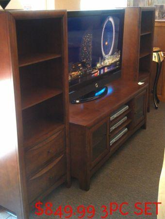 3 PIECE TV STAND W/2 TOWERS   $850 (SALINAS,CA TREASURE